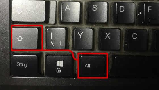 Tastatur umstellen
